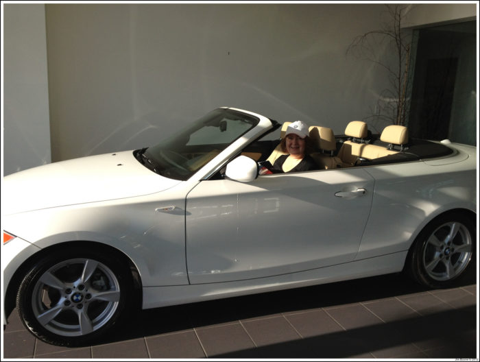 Nadya and her convertable